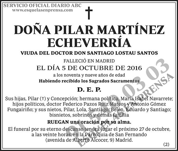 Pilar Martínez Echeverría